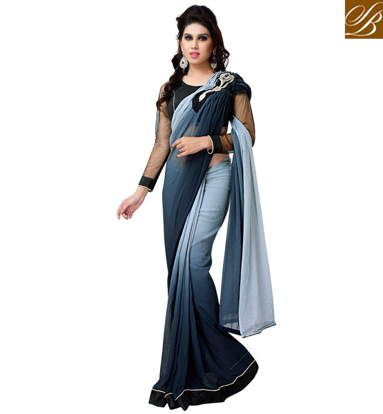 everystlish shaded party wear saree online shopping India