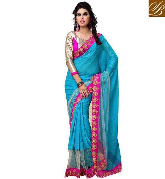 everystlish designer rama party wear saree online shopping India