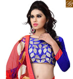 everystlish designer red party wear saree online shopping India