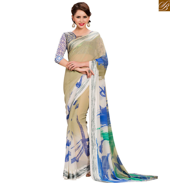 BROUGHT TO YOU BY STYLISH BAZAAR PRETTY DESIGNER PRINTED SAREE DESIGN RTSER501