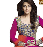 GORGEOUS BOLLYWOOD CELEB SONALI BENDRE IN FULL SLEEVES TRADITIONAL PLAZZO STYLE DRESS SUIT JNHR5025A