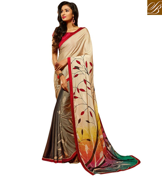 LOVELY NATURE INSPIRED DESIGNER PRINTED SARI HAW502