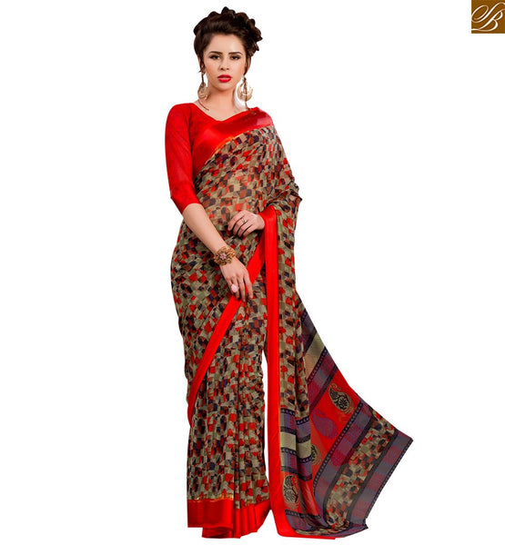 RADIANT PRINTED SAREE BLOUSE DESIGN FOR PARTIES RTSER502 BY MULTI