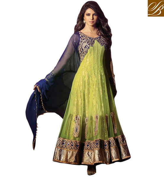 GORGEOUS GREEN PRIYANKA CHOPRA SALWAR SUIT JNHR5031 - STYLISHBAZAAR  - Priyanka Chopra online shopping for anarkali suits, Priyanka Chopra online shopping for anarkali dress, online shopping of Priyanka Chopra anarkali suits, online shopping anarkali dress, online shopping of anarkali dress, Priyanka Chopra