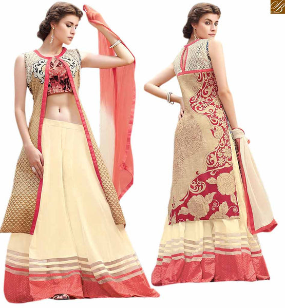 Long Choli Lahenga Desings Of Indo-Western Style Chaniya Choli Eye Catching Indo Western Style Designer Long Choli Lahenga Look Chaniya Choli