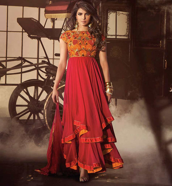 PRIYANKA CHOPRA RAVISHING RED SALWAR SUIT JNHR5032 - StylishBazaar - Priyanka Chopra online shopping for anarkali suits, Priyanka Chopra online shopping for anarkali dress, online shopping of Priyanka Chopra anarkali suits, online shopping anarkali dress, online shopping of anarkali dress, Priyanka Chopra