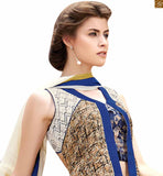 Excellent Partywear Designer Lehenga Choli Blous Designs Collection For Women Cream Pure Jute Silk Designer Top. It Also Consists Of Cream Pure Catton Satin Amazing Choli Type Palazzo Paired Along With Sea Green And White Dupatta.