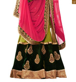 SOPHISTICATED GREEN COLORED EMBROIDERED HEAVY SAREE COMPLEMENTED WITH GREEN BLOUSE ONLINE SAREE SHOPPING STYLISH BAZAAR