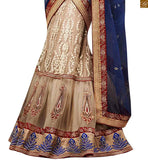 WEDDING SAREE COLLECTION CLASSY CREAM COLOURED HEAVY DESIGNER SARI ALONG WITH CREAM BLOUSE BY STYLISH BAZAAR