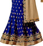 STYLISH BAZAAR PRESENTS PRETTY BLUE COLORED DESIGNER EMBROIDERED SAREE WITH BLACK BLOUSE