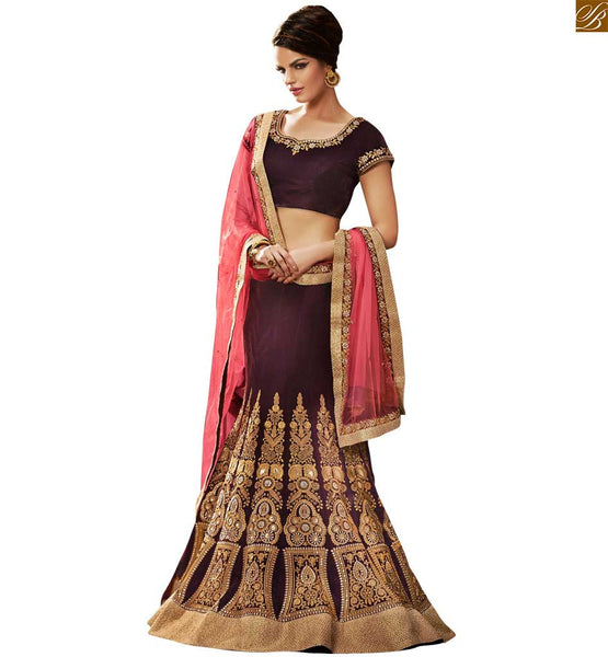 SHOP ONLINE FOR MESMERIZING PURPLE COLORED HEAVY SAREE WITH DESIGNER BLOUSE