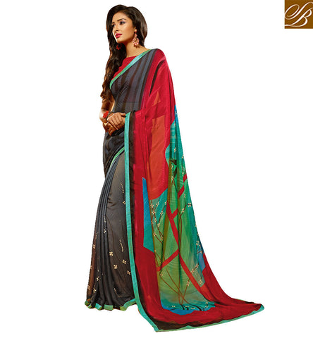PHENOMENAL DESIGNER PRINTED SAREE DESIGN FOR ALL OCCASIONS HAW506 STYLISH BAZAAR