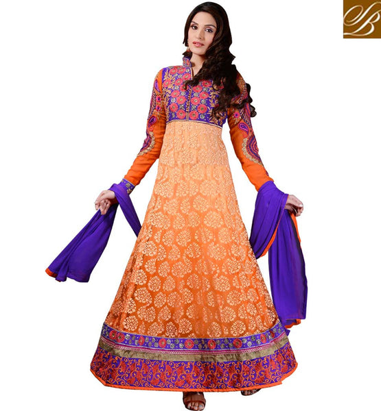 LATEST FASHION RAJWADI FULL LENGTH PARTY WEAR ANARKALI SALWAR SUIT