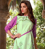 DAILY WEAR LIGHT GREEN CREPE FABRIC PRINTED TUNIC TOP CASUAL SUMMER TOPS FOR WOMEN BUY WITH CASH ON DELIVERY FACILITY