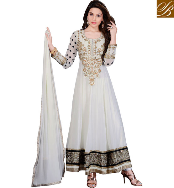 BOLLYWOOD FASHION PARTY WEAR ANARKALI DRESS ONLINE SHOPPING INDIA