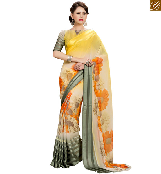 WONDERFUL DESIGNER PARTY WEAR PRINTED SARI RTSER509