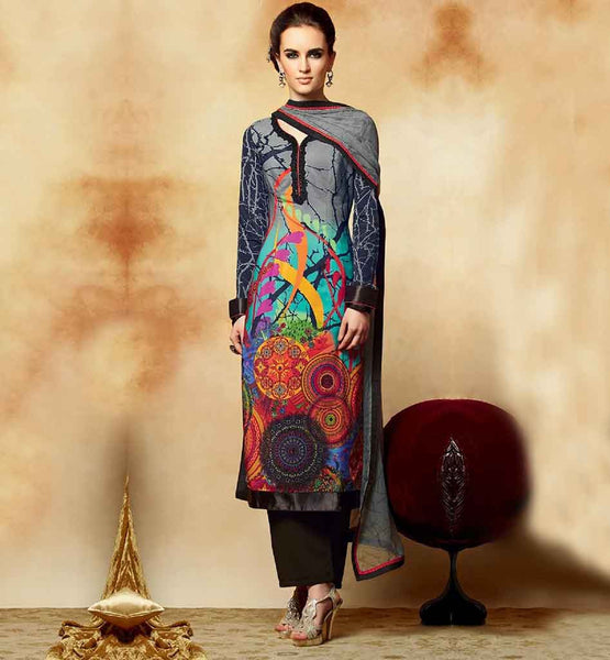 KIMORA HEER 2 5105 BEAUTIFUL MULTICOLORED PRINTED PARTY WEAR SALWAR SUIT
