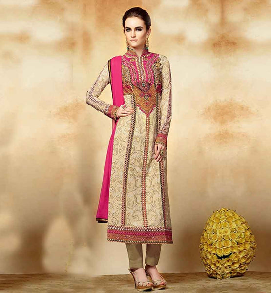 KIMORA HEER PAKISTANI STYLE STRAIGHT LOOK PARTY WEAR SALWAR KAMEEZ