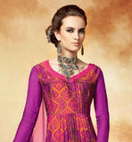 PINK AND ORANGE HUES KIMORA HEER MAXI STYLE SALWAR KAMEEZ 5109