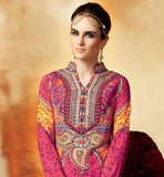 BEAUTIFUL NECKLINE PRINTED KIMORA HEER PAKISTANI STYLE SALWAR SUIT 5111