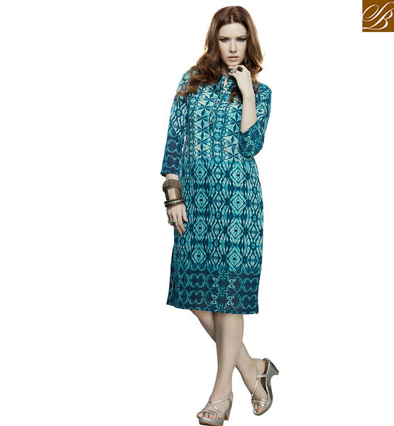 A STYLISH BAZAAR PRESENTATION PREMIUM DESIGN PARTY WEAR KURTI VDJIA525B