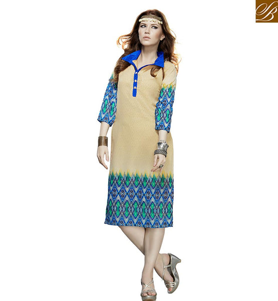 FROM STYLISH BAZAAR APPEALING KURTI DESIGN FOR PARTIES VDJIA527B