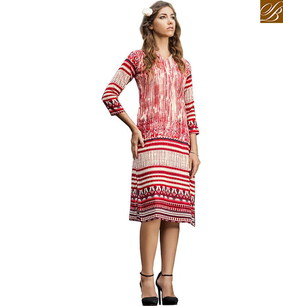 BROUGHT TO YOU BY STYLISH BAZAAR DELIGHTFUL DESIGNER PARTY WEAR KURTI VDJIA529A