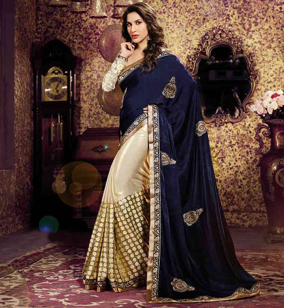 LATEST BOLLYWOOD SAREE DESIGNS FOR INDIAN WOMEN STUNNING BEAUTY SOPHIE CHAUDHARY RICH LOOK SARI BLOUSE DESIGN
