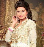 OFF WHITE GEORGETTE SALWAR SUIT RTZNT5302