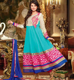 BLUE GEORGETTE SALWAR SUIT RTZNT5304