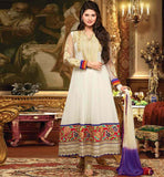 OFF WHITE GEORGETTE SALWAR SUIT RTZNT5306