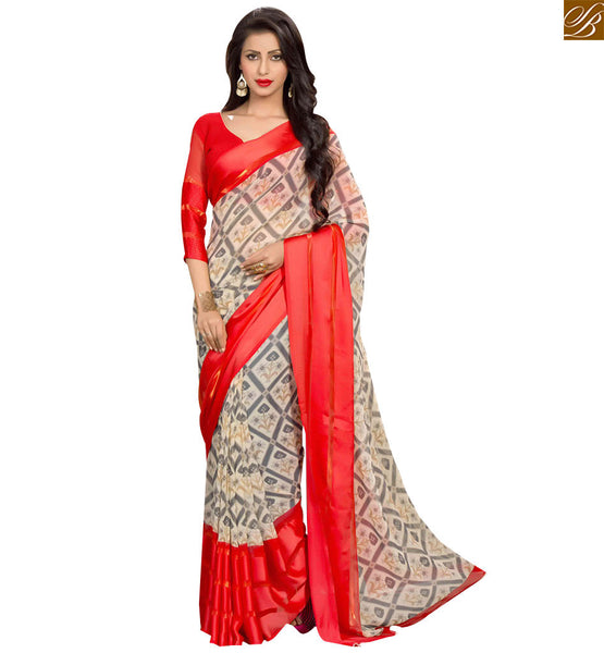 GOOD-LOOKING DESIGNER PRINTED PARTY WEAR SAREE RTSER530 BY STYLISH BAZAAR