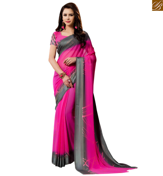 STYLISH BAZAAR PRESENTATION LOVELY PINK SARI BLOUSE DESIGN FOR PARTIES RTSER531