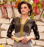 BLACK & CREAM SALWAR SUIT RTDAK5382B