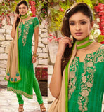 STYLISHBAZAAR ONLINE SHOPPING GREEN PARTY WEAR SALWAR SUIT RTDAK5384A