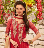 STYLISHBAZAAR ONLINE SHOPPING MAROON PARTY WEAR SALWAR SUIT RTDAK5384B