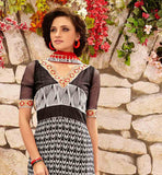 STYLISHBAZAAR ONLINE SHOPPING BLACK PARTY WEAR SALWAR SUIT RTDAK5385B