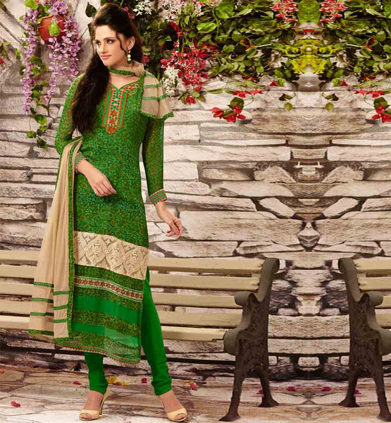 STYLISHBAZAAR ONLINE SHOPPING GREEN PARTY WEAR SALWAR SUIT RTDAK5390B