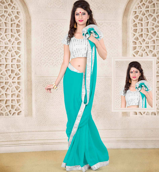 buy online party wear sarees stylish bazaar