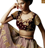 BROUGHT TO YOU BY STYLISH BAZAAR FASCINATING CREAM AND MAROON PARTY WEAR DESIGNER SARI BLOUSE ANRA55