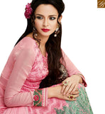 STYLISH BAZAAR PRESENTS SHOP PINK GEORGETTE STRAIGHT CUT SALWAR KAMEEZ FROM STYLISH BAZAAR MJSYB55