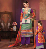 LATEST FASHION V NECK DESIGNS SALWAR KAMEEZ EXCITING GEORGETTE STRAIGHT CUT RICH EMBROIDERED SUIT