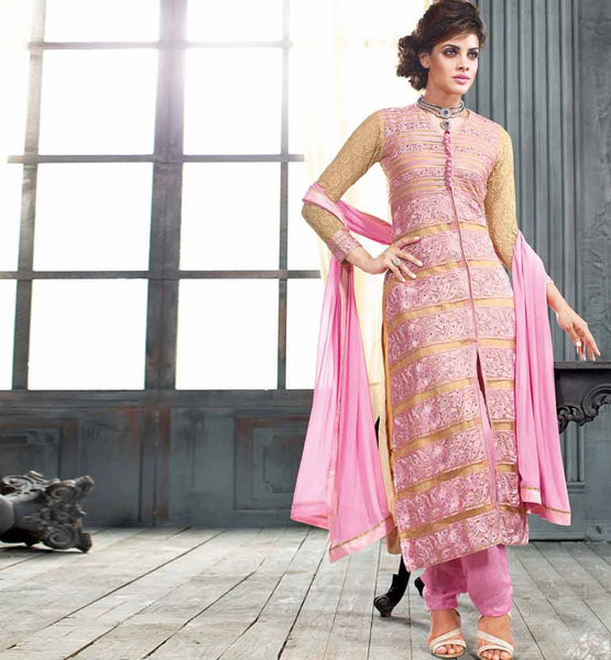 LOVELY LIGHT PINK  PARTY WEAR SALWAR SUIT VDAN55003