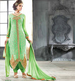 GLAMOROUS GREEN  PARTY WEAR SALWAR SUIT VDAN55004