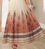 5504 orange & cream anarkali salwar suit shop now online
