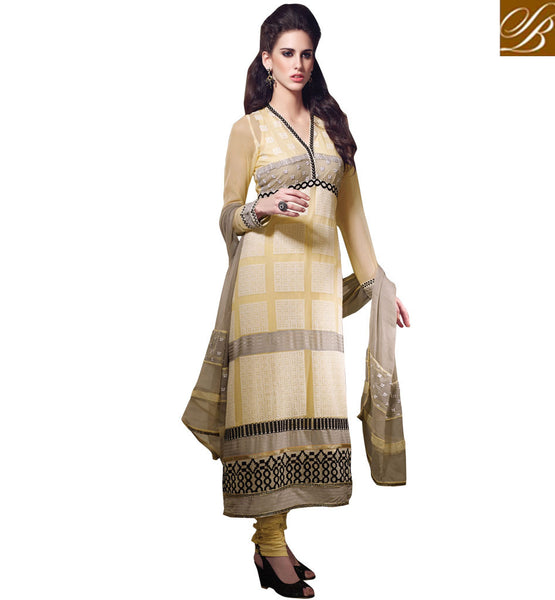 EXCITING YELLOW GEORGETTE OCCASION WEAR SALWAR KAMEEZ WITH DUPATTA