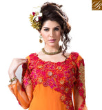OUT-STANDING ORANGE DRESS WITH ORNATE DESIGNING FOR MARRIAGES