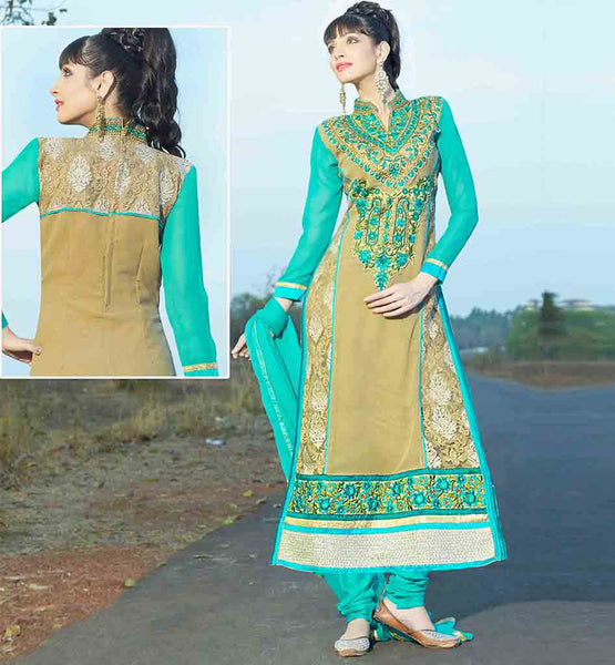 ONLINE SALWAR SHOPPING IN SRI LANKA AT BEST RATES VIBRANT COLOR THREAD WORK NECKLINE WITH STYLISH COLLAR PATTERN
