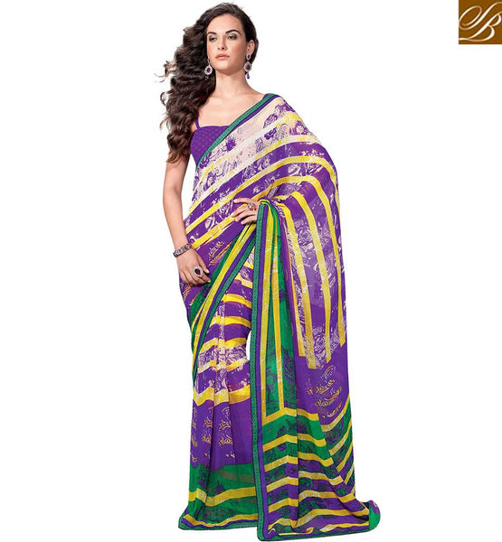 CAPTIVATING PRINTED PARTY WEAR SAREE BLOUSE DESIGN RTKUN5726 BY STYLISH BAZAAR