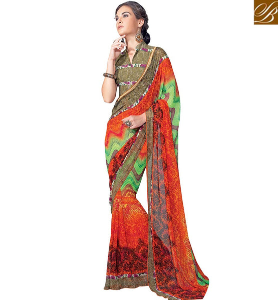 STYLISH BAZAAR  MARVELOUS MULTI COLOR SAREE BLOUSE RTKUN5742